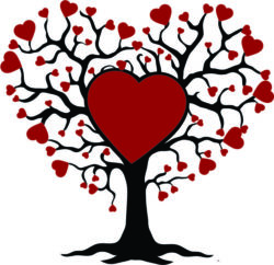 family tree of love file cdr and dxf free vector download for Laser cut