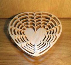 heart dish file cdr and dxf free vector download for Laser cut