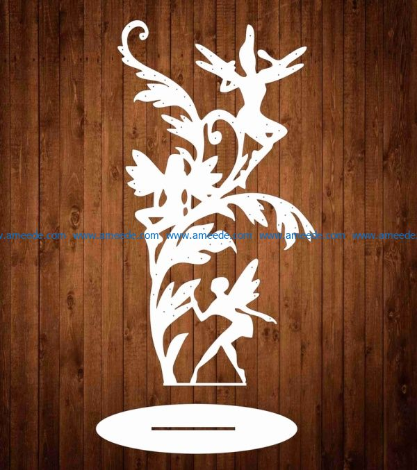 jewelry stand file cdr and dxf free vector download for Laser cut