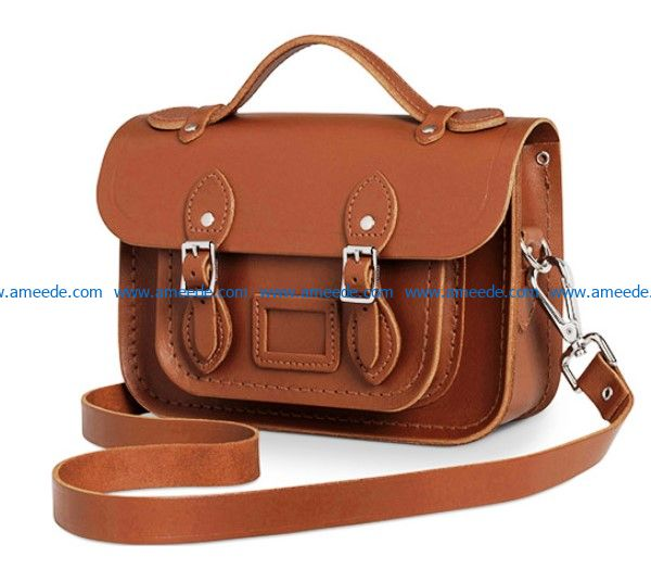 leather bag patter file cdr and dxf free vector download for Laser cut