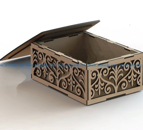lovely wooden casket file cdr and dxf free vector download for Laser cut