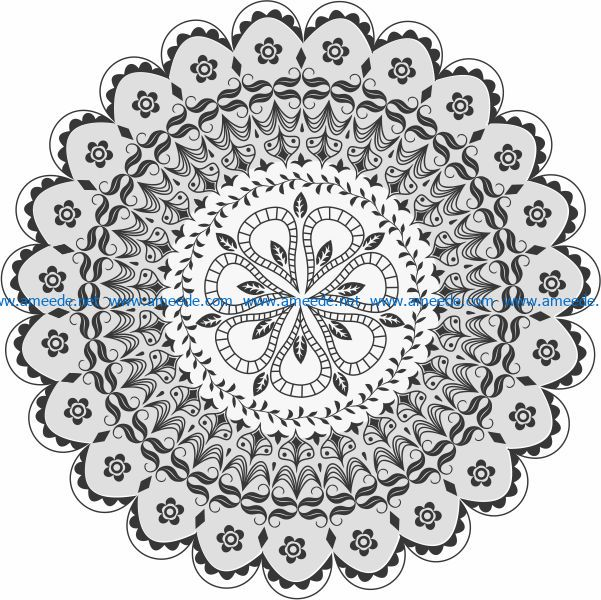mandala file cdr and dxf free vector download for print or laser engraving machines