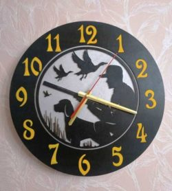 round hunting clock file cdr and dxf free vector download for Laser cut