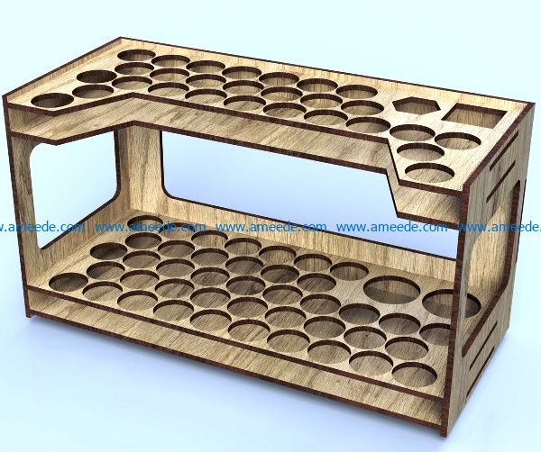 test tube shelf file cdr and dxf free vector download for Laser cut