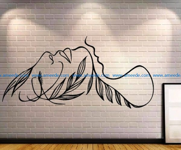 women wall decorations file cdr and dxf free vector download for Laser cut