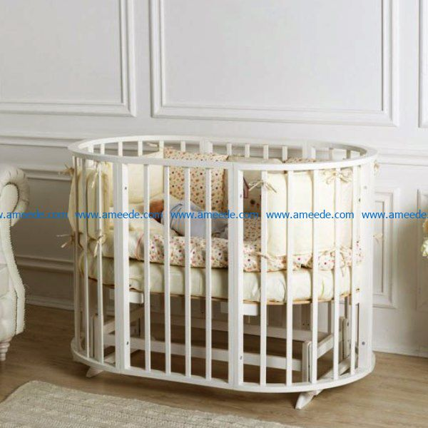 wooden crib file cdr and dxf free vector download for Laser cut