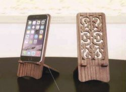 wooden phone stand  file cdr and dxf free vector download for Laser cut