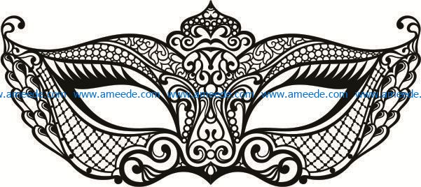 Mask file cdr and dxf free vector download for Laser cut