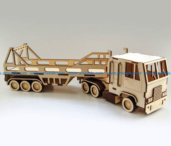truck model file cdr and dxf free vector download for Laser cut