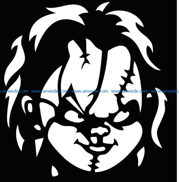chucky file cdr and dxf free vector download for Laser cut
