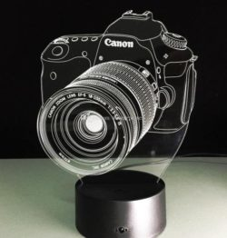 3D illusion led lamp canon free vector download for laser engraving machines