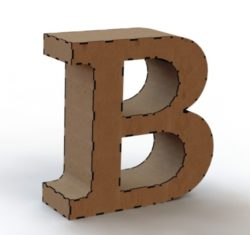 3d letter B file cdr and dxf free vector download for Laser cut