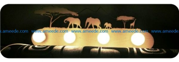 Africa lamp file cdr and dxf free vector download for Laser cut