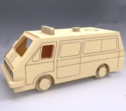 Ambulance model file cdr and dxf free vector download for Laser cut