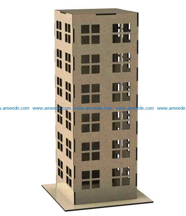 Apartment file cdr and dxf free vector download for Laser cut