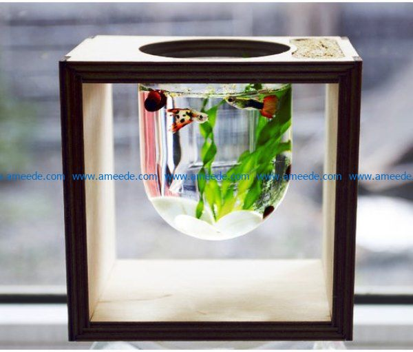 Aquarium file cdr and dxf free vector download for Laser cut