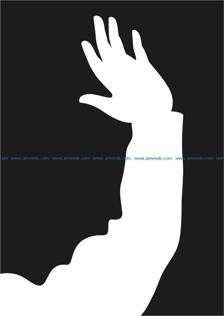 Arms and people screaming file cdr and dxf free vector download for Laser cut