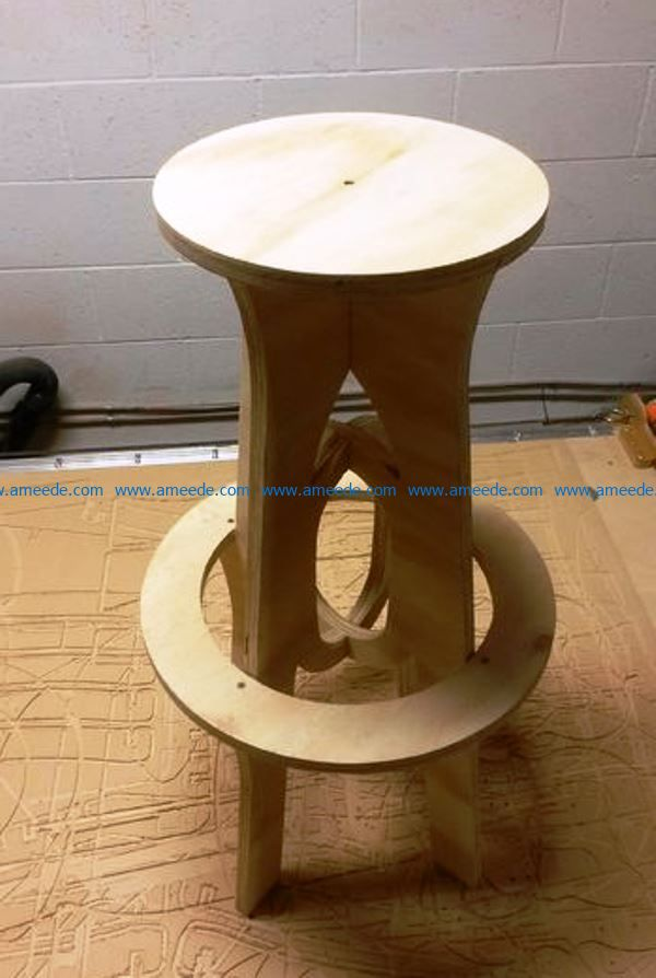 Bar Stool file cdr and dxf free vector download for CNC