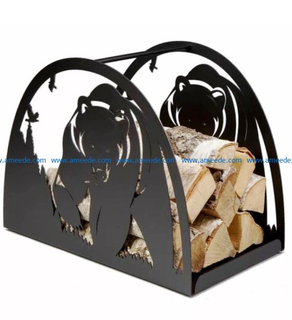 Bear fireplace file cdr and dxf free vector download for Laser cut Plasma