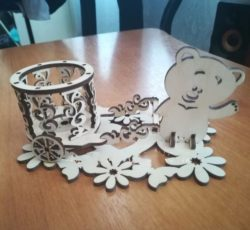 Bear napkin holder file cdr and dxf free vector download for Laser cut