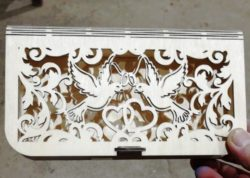Bills box with pigeons file cdr and dxf free vector download for Laser cut