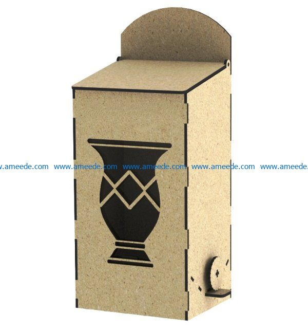Box erba mate file cdr and dxf free vector download for Laser cut