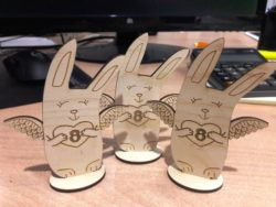 Bunny in August file cdr and dxf free vector download for Laser cut