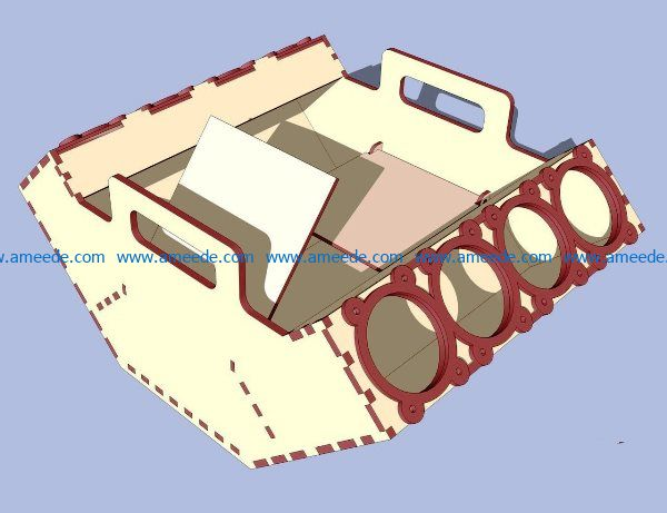 Carrier Beer file cdr and dxf free vector download for Laser cut