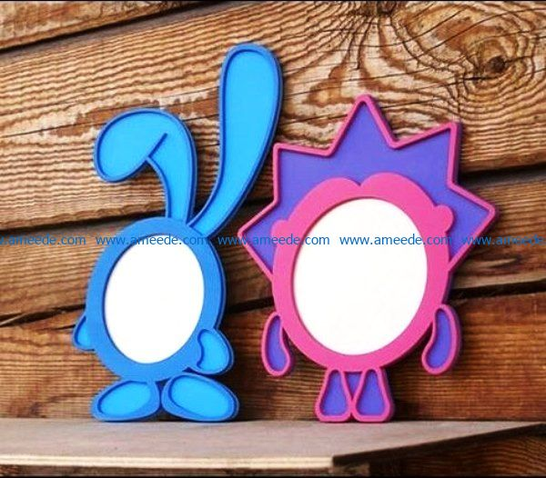 Cartoon photo frames file cdr and dxf free vector download for Laser cut
