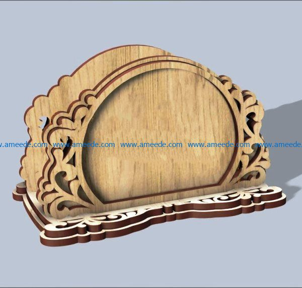 Carved napkin holder file cdr and dxf free vector download for Laser cut