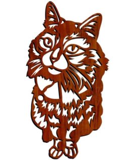 Cat Panno file cdr and dxf free vector download for Laser cut Plasma