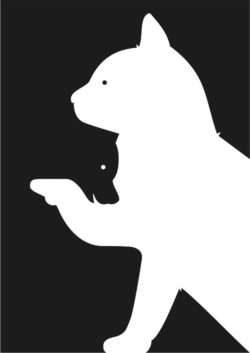 Cat and bear illusion file cdr and dxf free vector download for Laser cut