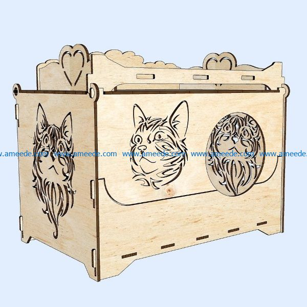 Cat house file cdr and dxf free vector download for Laser cut