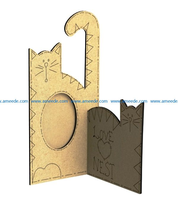 Cat portrait file cdr and dxf free vector download for Laser cut