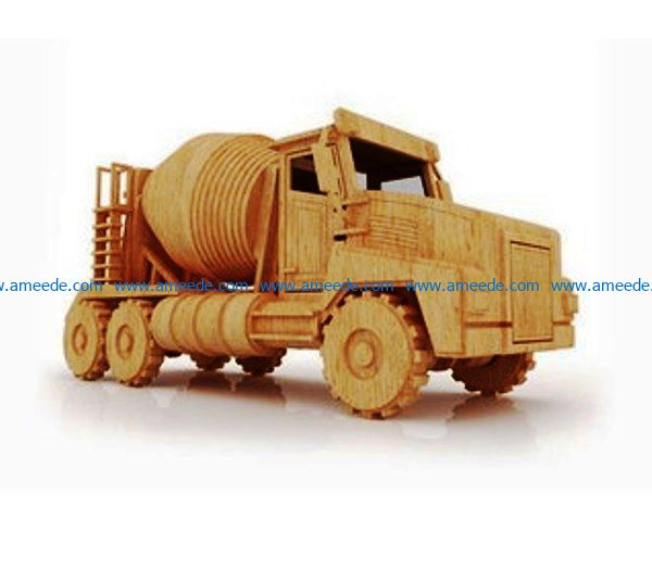 Cement truck file cdr and dxf free vector download for Laser cut