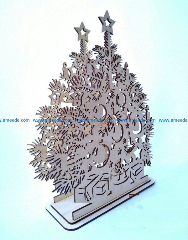 Christmas candle file cdr and dxf free vector download for Laser cut