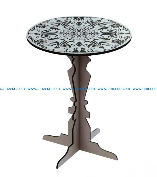 Coffee table file cdr and dxf free vector download for Laser cut