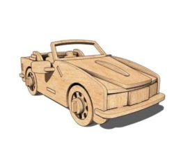 Convertible car file cdr and dxf free vector download for Laser cut