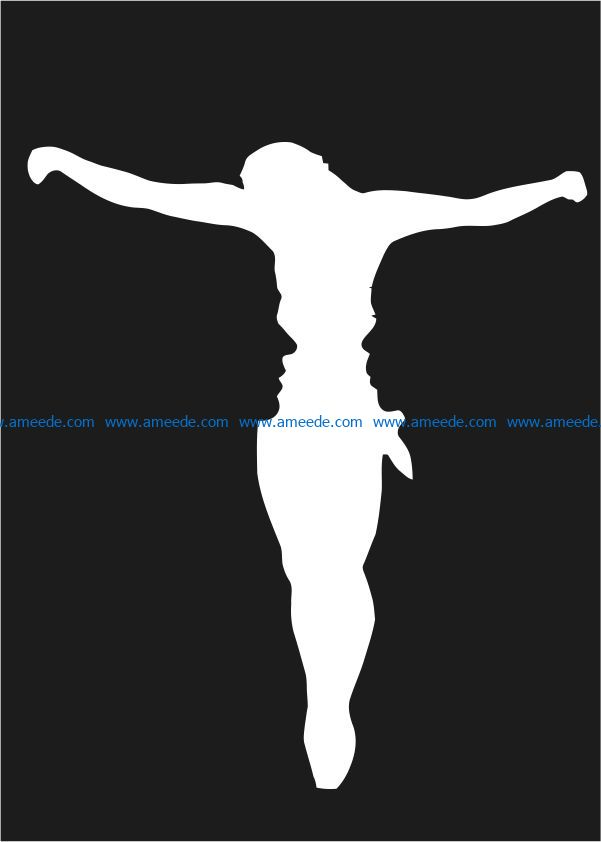Couple and lord illusion file cdr and dxf free vector download for Laser cut
