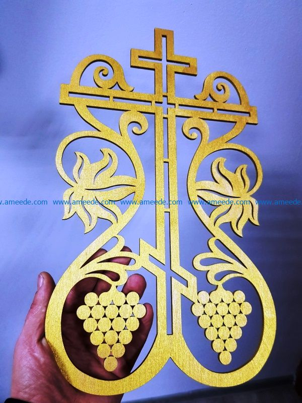 Cross file cdr and dxf free vector download for Laser cut