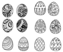 Decorate easter eggs file cdr and dxf free vector download for laser engraving machines