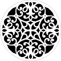Decorative motifs circle  E0009261 file cdr and dxf free vector download for Laser cut