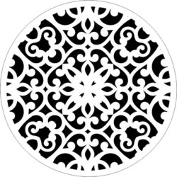 Decorative motifs circle E0009262 file cdr and dxf free vector download for Laser cut