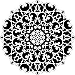 Decorative motifs circle E0009264 file cdr and dxf free vector download for Laser cut