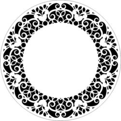 Decorative motifs circle E0009301 file cdr and dxf free vector download for Laser cut