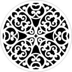 Decorative motifs circle E0009303 file cdr and dxf free vector download for Laser cut