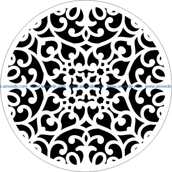 Decorative motifs circle E0009427 file cdr and dxf free vector download for Laser cut