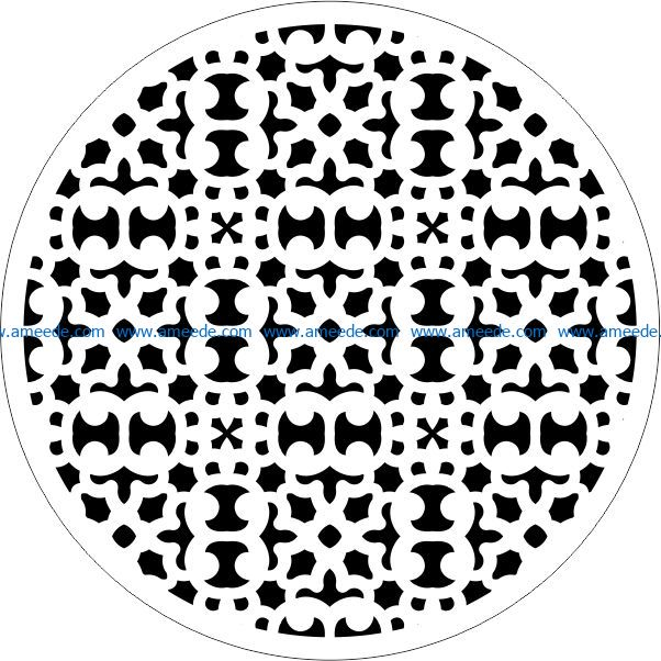 Decorative motifs circle E0009428 file cdr and dxf free vector download for Laser cut