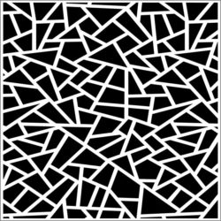Decorative pattern of broken glass square file cdr and dxf free vector download for Laser cut CNC