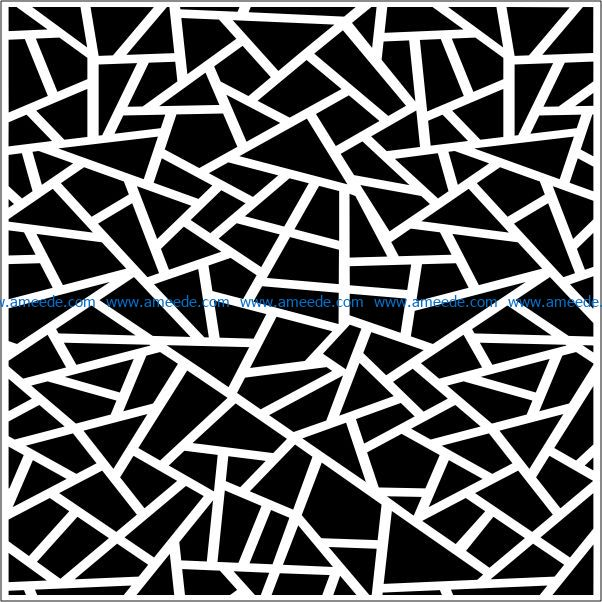 Decorative pattern of broken glass square file cdr and dxf free vector download for Laser cut